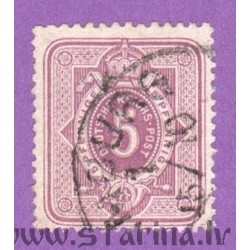 Daily stamp (digit in oval, crown)
