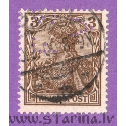 """Germania. Inscription """"Reichspost"""", perforated """"F.V."""""""
