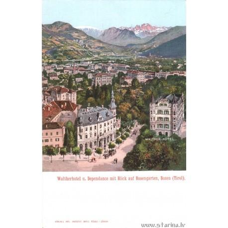 Waltherhotel u. Dependance mit Blick auf Rosengarten, Bosen (Tirol)