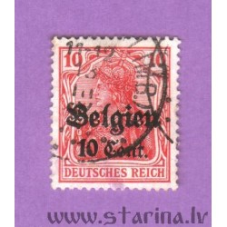"German Empire postage stamp overprinted ""Belgien"""