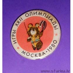 Значок XXII Олимпийских игр в Москве