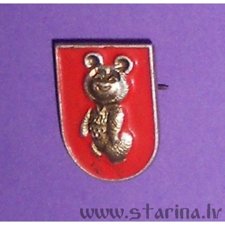Badge with Olympic bear