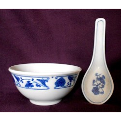 Chineese bowl with spoon